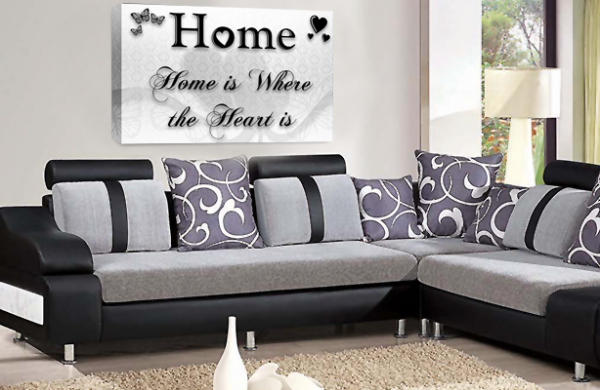 Home Quote Wall Art Picture White Black Love Print